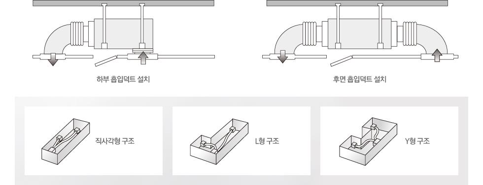 자유로운 실내 공기 흡입 덕트 설치
